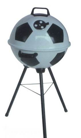 Football/soccer bbq grill