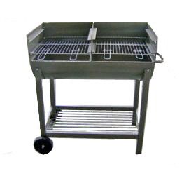 simple charcoal barbecue