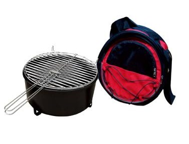 Charcoal grill with cooler bag