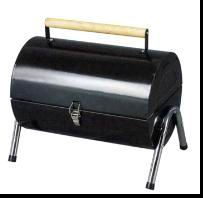 portable barrel charcoal grill