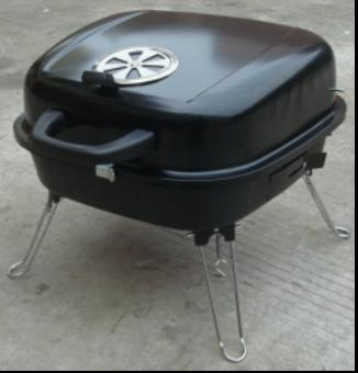 Portable square charcoal BBQ