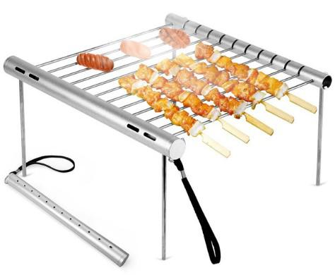 New creative Portable pocket foldable camping BBQ grill