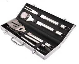 4pcs BBQ tools set in alumium case  for promotion