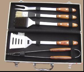 5 PCS PAKKA wood bbq tool set