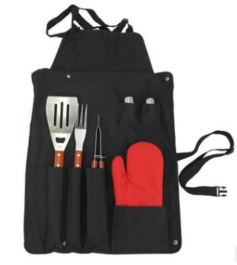 7pcs bbq set with glove in an Apron promotion