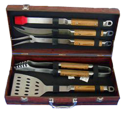 5 PCS rose wood bbq tool sets