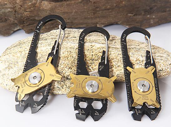 Promotional outdoor multifounction mountainner carabiner