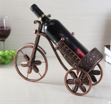 new  bicycle Style metal Red Wine Rack/shelf/holder