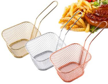 Mini frying food/chips basket stainer chef tools